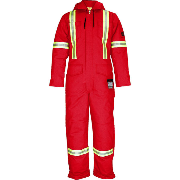 Picture of 1355MR Deluxe Worksuit - 9 oz UltraSoft®, Quilt Lined with Detachable Hood & 3M Scotchlite®
