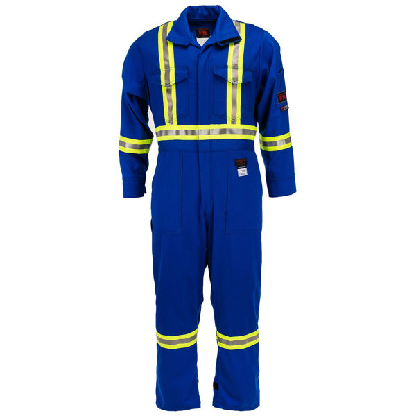 Picture of 2310C1 Deluxe Coverall - 9 oz 88/12, Unlined w 3M Scotchlite®