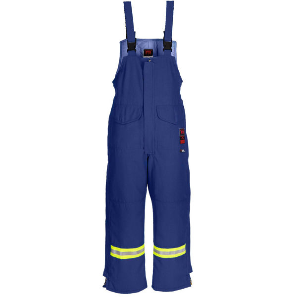 Picture of 6330MWR Bib Pant - 6.5 oz Westex DH, Quilt Lined w Nylon Wind Barrier & 3M Scotchlite®
