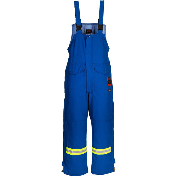 Picture of 8330MFWR Bib Pant - 6 oz Nomex® IIIA, Quilt Lined w FR Wind Barrier & 3M Scotchlite®