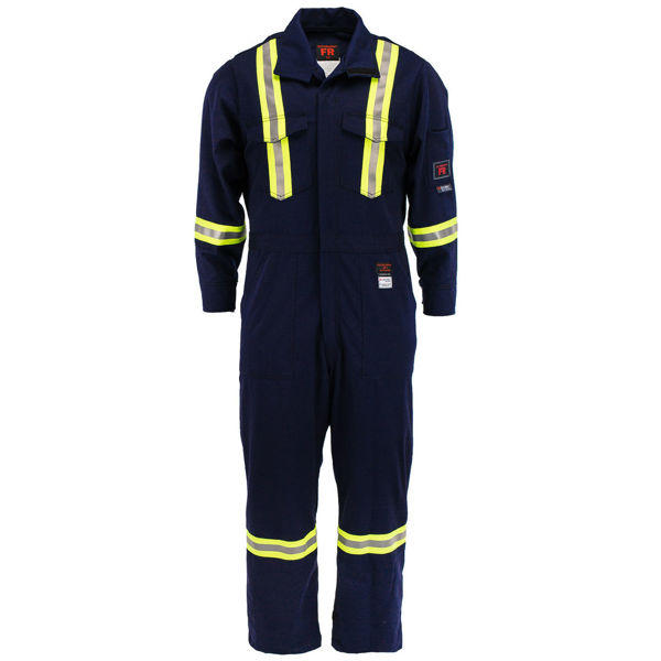 Picture of 2310R Deluxe Coverall - 9 oz 88/12, Unlined w 3M Scotchlite®