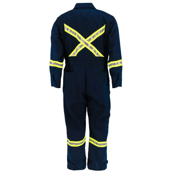 Picture of 6310R-6 Deluxe Coverall - 6.5 oz Westex DH, Unlined w 3M Scotchlite®