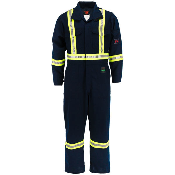 Picture of 6310C1-6 Deluxe Coverall - 6.5 oz Westex DH, Unlined w 3M Scotchlite®