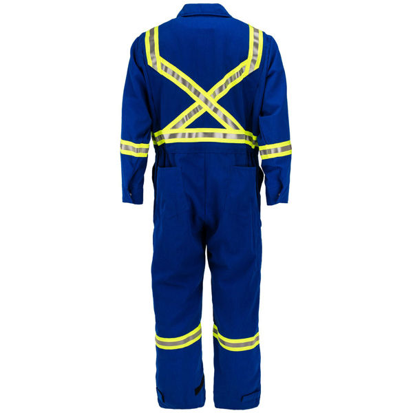 Picture of 7410C1-7 Deluxe Coverall - 7 oz Tecasafe™ plus, Unlined w 3M Scotchlite®