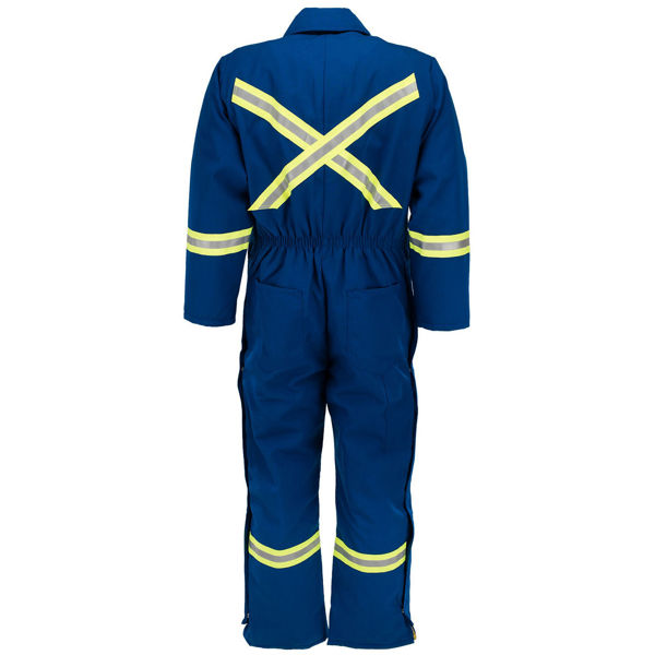 Picture of 8355MFWR Deluxe Worksuit-6oz Nomex® IIIA,Quilt Lined w FR Wind Barrier, HOOD & 3M Scotchlite®