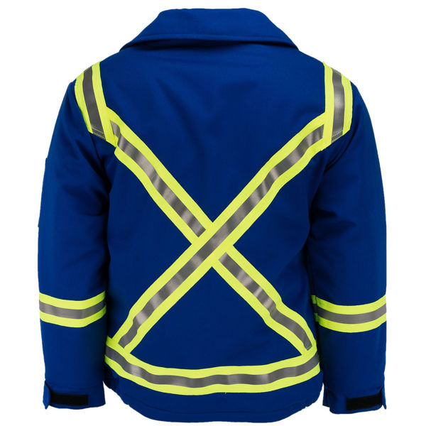 Picture of 1343AMC1 Mid Length Jacket  - 8.5 oz UltraSoft® AllOut®, Quilt Lined w 3M Scotchlite®