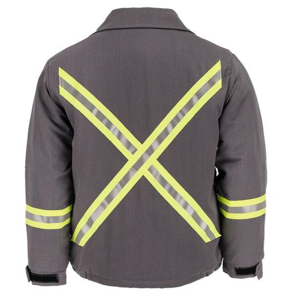 Picture of 7443M4R Mid Length Jacket - 7 oz Tecasafe™ plus, Quilt Lined w 3M Scotchlite®