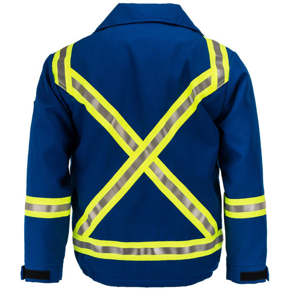Picture of 8343SC1 Mid Length Jacket - 6 oz Nomex® IIIA, Summer Lined w 3M Scotchlite®