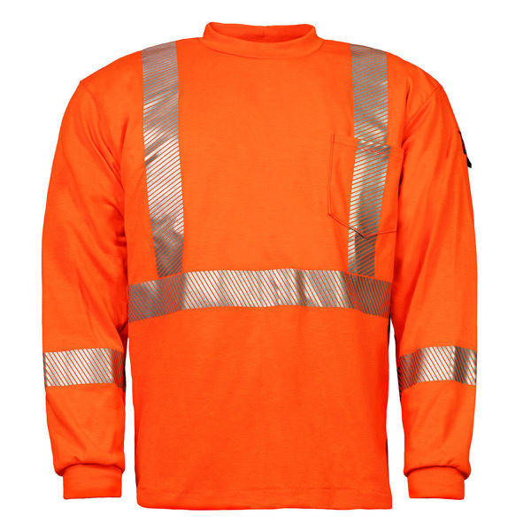 Picture of 74K06C2 Long Sleeve T-Shirt - 6.95oz PyroSafe Knit, w 3M Scotchlite®