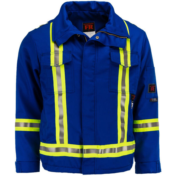 Picture of 1343ASC1 Mid Length Jacket  - 8.5 oz UltraSoft® AllOut®, Quilt Lined w 3M Scotchlite®