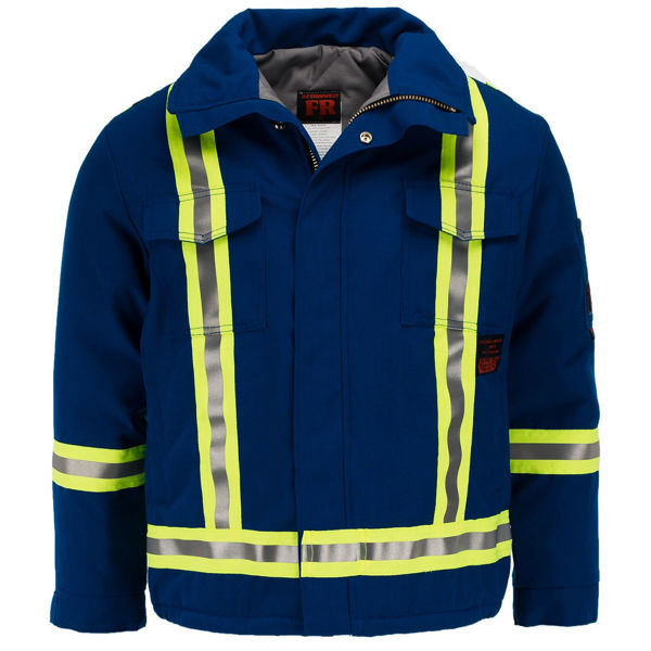 Picture of 8343MFWC1 Mid Length Jacket - 6 oz Nomex® IIIA, Quilt Lined w FR Wind Barrier & 3M Scotchlite®