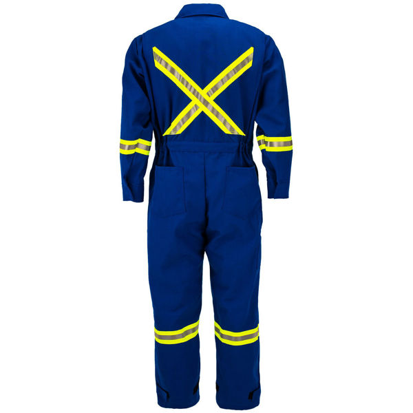 Picture of 8R10R - Unlined Deluxe Coverall – 6.75oz Recycled Aramid w WCB Scotchlite®