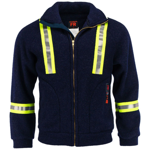 Picture of 8RF13R - Fleece Jacket - 7.5oz  Recycled Aramid Fleece - w Zipper, Collar, & WCB Scotchlite®