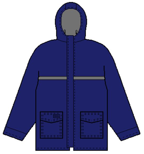 Picture of 8337VS - Jacket - Rain - 3/4 Length - 5.5 oz Coated Nomex® IIIA, Summer Lined