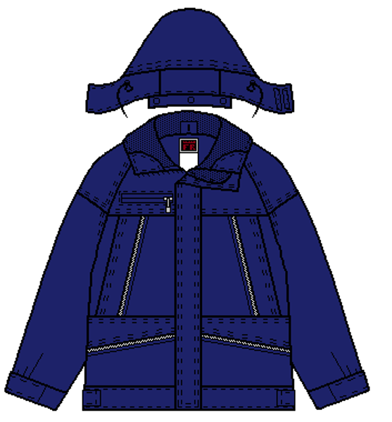 Picture of 8312 - 3 In 1 - Arctic - 5.5 oz Coated Nomex® IIIA, Summer Lined with Pinstripe Trim