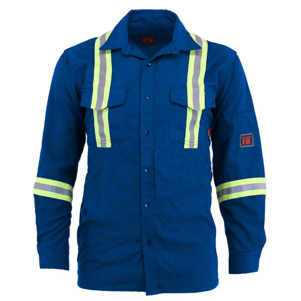 Picture of 8334R Shirt - 6 oz Nomex® IIIA, Unlined w 3M Scotchlite®
