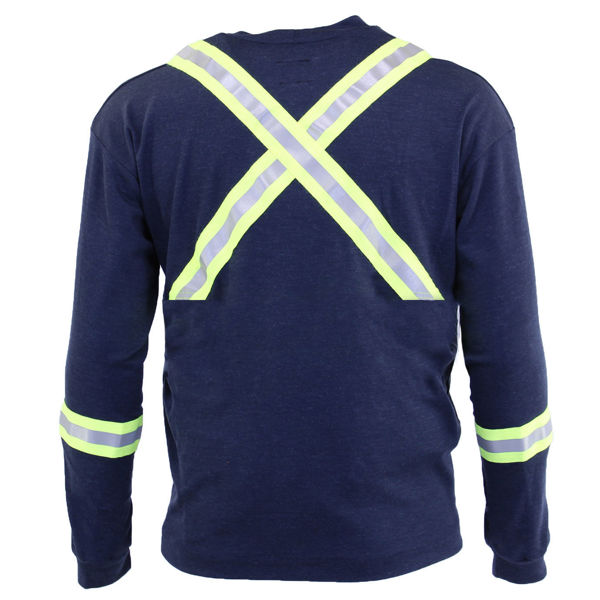 Picture of 74K06R Long Sleeve T-Shirt - 6.95oz PyroSafe Knit, w 3M Scotchlite®