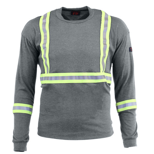 Picture of 74K06C1 Long Sleeve T-Shirt - 6.95oz PyroSafe Knit, w 3M Scotchlite®