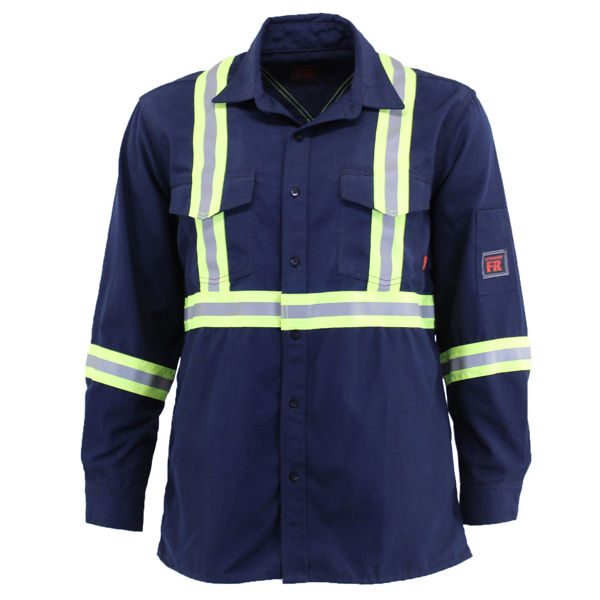 Picture of 8334C1 Shirt - 6 oz Nomex® IIIA, Unlined w 3M Scotchlite®