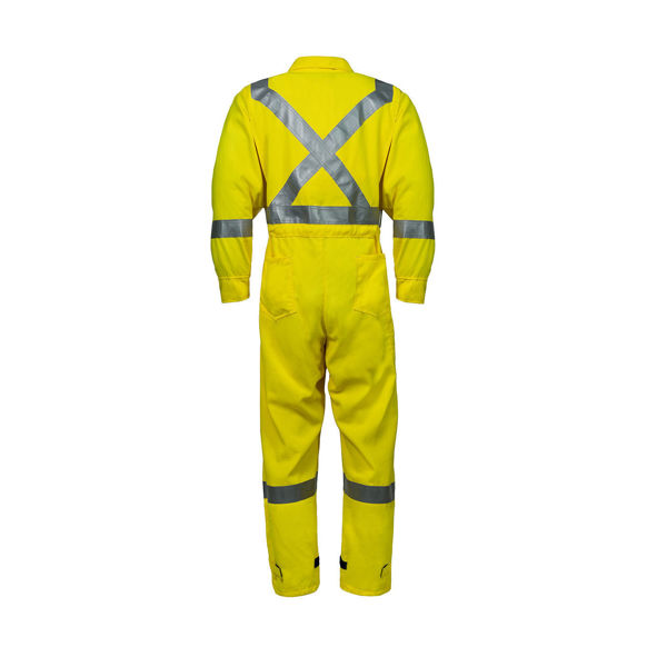 Picture of 6310C3-6 Deluxe Coverall - 6.5 oz Westex DH, Unlined w 3M Scotchlite®