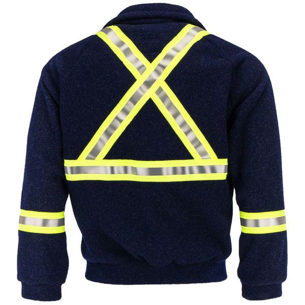 Picture of 83F13C1 Fleece Jacket - 7.5 oz Nomex® IIIA, Unlined w 3M Scotchlite®